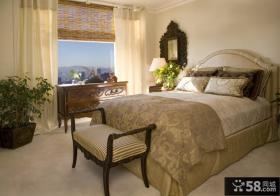 130万打造170平米地中海风格家居卧室窗帘装修效果图大全2012图片
