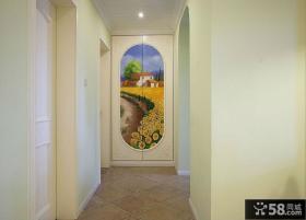 简约地中海风格过道设计室内效果图