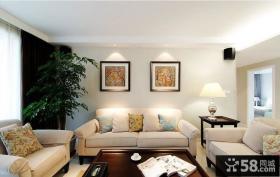 简约式客厅沙发背景墙装饰画图片