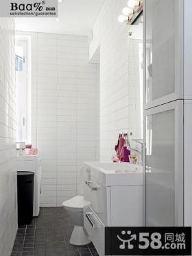 简约卫生间瓷砖效果图