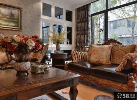 美式乡村风格客厅布置图片