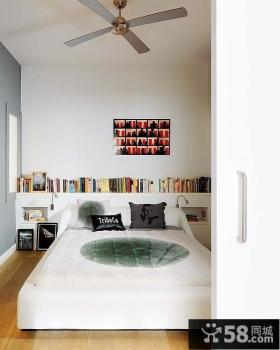 简约明朗的复式楼卧室装修效果图大全2014图片