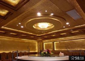 豪华餐厅吊灯装修