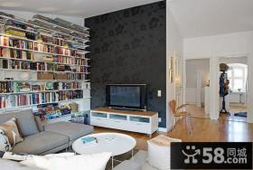 客厅电视背景墙壁纸壁画