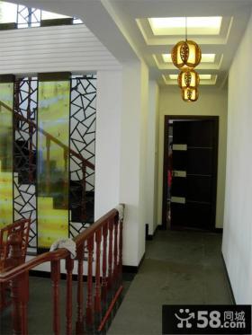 中式家装过道吊顶装修效果图欣赏