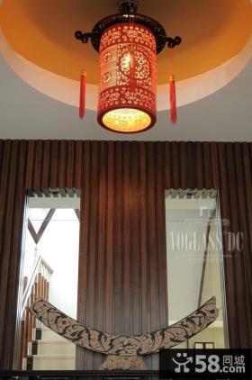 别墅中式吊灯设计