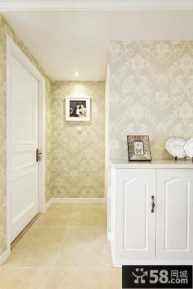 欧式风格婚房玄关墙纸效果图