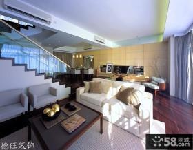 复式公寓客厅装修效果图