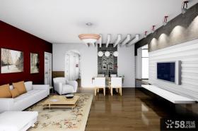 90平米小户型客厅电视背景墙装修效果图大全2014图片