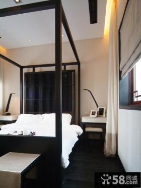 现代中式大户型主卧室装修效果图大全