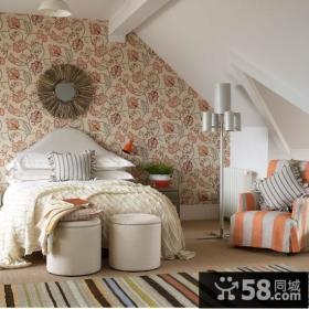 小复式田园风格卧室阁楼装修效果图