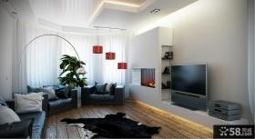 70平小户型电视背景墙装修效果图