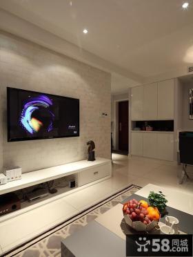 简约时尚电视背景墙装修图片