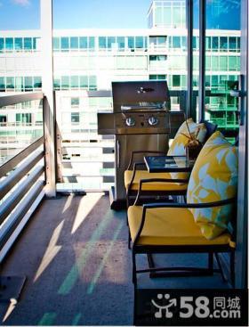 客厅阳台洗衣机装修效果图片大全