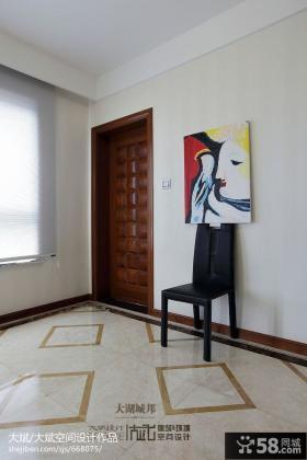 客厅进门玄关图片