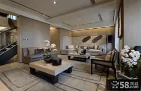 中式别墅客厅样板房实景图