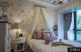 田园设计卧室窗帘