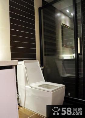 简约现代设计复式家居卫生间效果图