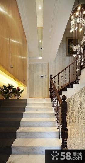 新古典主义排屋楼梯装修案例