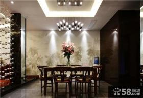 现代美式风格两室两厅餐厅装修效果图