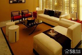 中式味道的现代风格卧室装修效果图大全2012图片