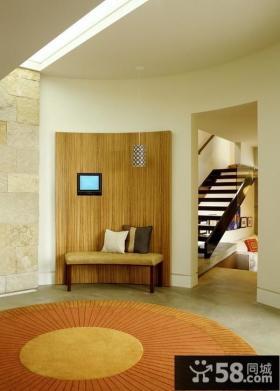 复式楼玄关装修效果图 客厅玄关装修效果图