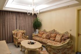 欧式田园风格小户型客厅装修效果图片