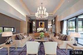 简约时尚别墅客厅装修效果图