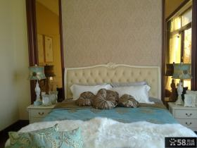 卧室床头欧式壁纸图片欣赏