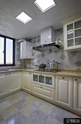 乡村美式厨房家装设计效果图