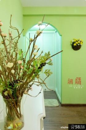 美式乡村风格70平米小户型客厅沙发背景墙装修效果图大全2012图片