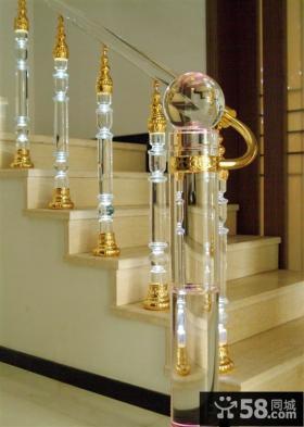 高档水晶楼梯扶手装修效果图