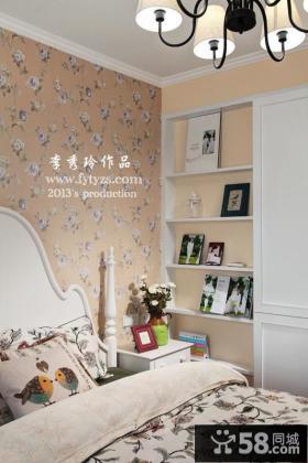欧式田园卧室壁纸装修效果图片