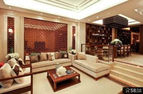 中式设计别墅装修效果图大全2014图片
