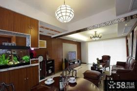新中式复式楼二层客厅装修效果图