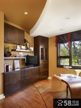 现代欧式风格书房客厅图片