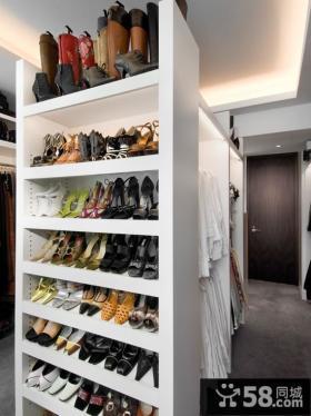 白色收纳鞋柜图片