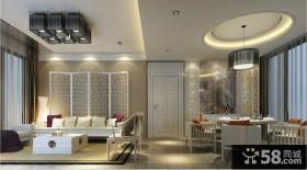 12万打造温馨浪漫现代风格二居客厅电视背景墙装修效果图