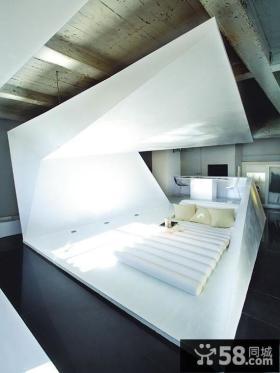 复式楼创意卧室装修设计效果图