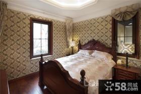 2013卧室壁纸装修效果图图片