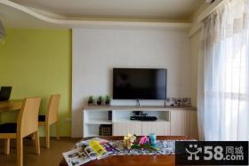 简约风格客厅电视背景墙装修设计效果图片