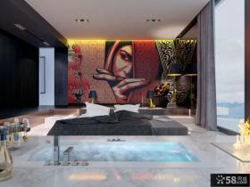 日式风格豪华别墅创意装饰画图片大全