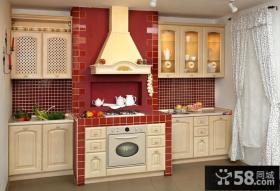 一字型厨房欧式橱柜效果图