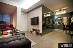 80平现代风格二居设计装修效果图