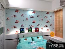 儿童卧室壁纸装修设计图