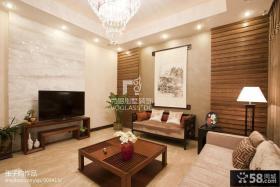 别墅客厅大理石电视背景墙效果图