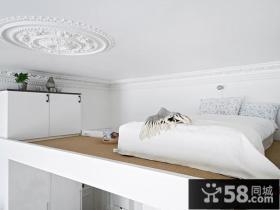 22平米复式楼,打造一个舒适的卧室阁楼装修效果图