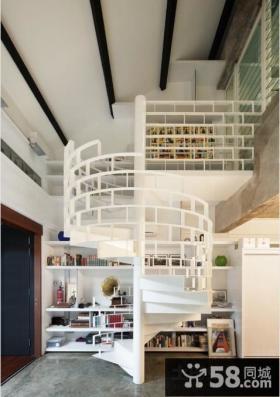 小复式旋转楼梯装修效果图