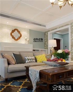 时尚美式风格样板房客厅装修