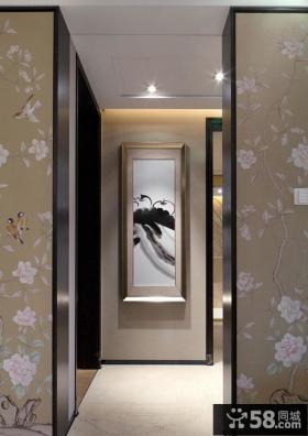 新中式玄关设计装饰